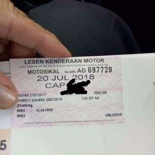 Hidup Roadtax motor tanpa puspakom