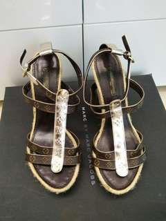 LV Louis Vuitton high heel sandals platforms涼鞋高跟鞋