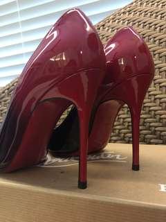 Christian Louboutin Black & Red Heels