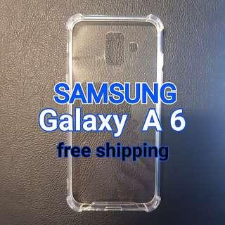 Samsung Galaxy A6 Anti Shock Proof Transparent Hard Case