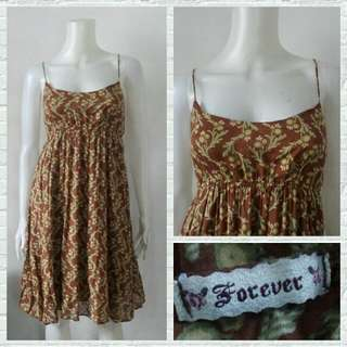 Forever Brown Nature String Dress