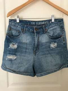 ✨Repriced✨ Cotton On Distressed High Waisted Denim Shorts