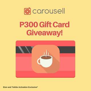 P300 Coffee Gift Card Giveaway: Eton and Tektite Activation Exclusive