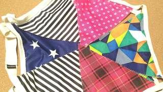 2條裝 三角旗幟 露營 裝飾