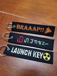 Motorcycle key tag keytag keychain chain