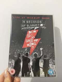 5SOS HOW DID WE END UP HERE MOVIE DVD