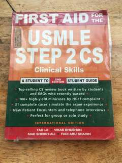 First Aid For The USMLE Step 2 CA Clinical Skills