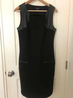 ✨Repriced✨ Spense Black Dress with Faux Leather Trim