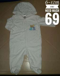 6-12m hooded frogsuit