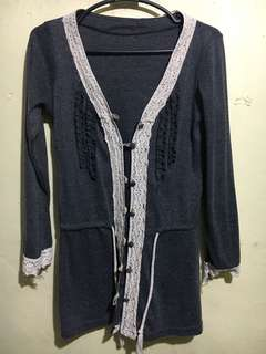 Korean Cardigan (Gray)