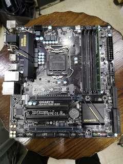 H170m-d3h gigabyte mainboard