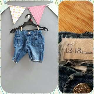 Gap denim shorts (12-18 mos)