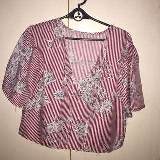 semi cropped hanging blouse