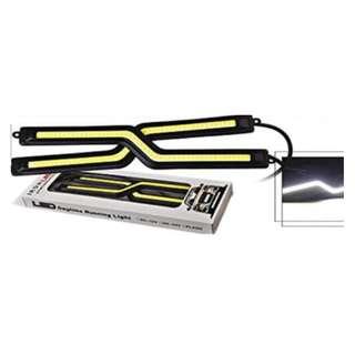 1 Pair 18CM Z Shape Slim COB LED DRL Light 1S-2Y