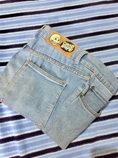 Original cheap monday skinny jeans in blue washed