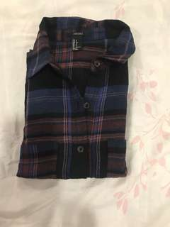 Repriced! Forever 21 blue & red plaid top