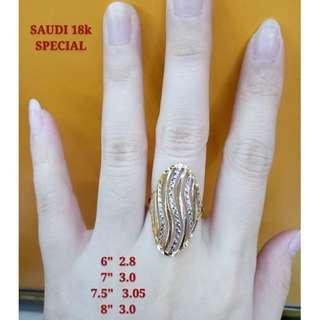 18K SPECIAL SAUDI GOLD RING .