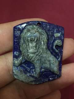 Lapis hand carved lion king ( USA )