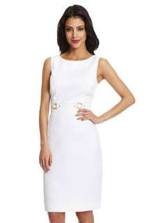 ✨Repriced✨ Tahari by Arthur S. Levine Sleeveless Dress with Double Ring Waistband