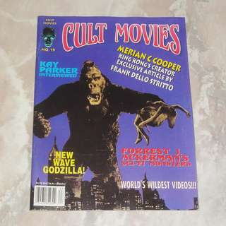 Cult Movies #19 Double Cover Magazine 1996 King Kong Barbarella 2001 A Space Odyssey Plan 9 From Outer Space