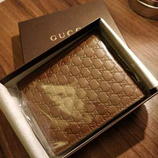 Gucci 全新 銀包