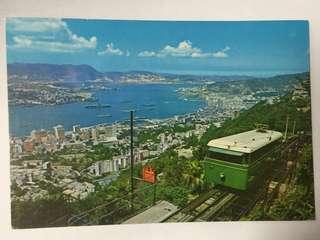 1965年 香港實寄 山頂纜車 名信片