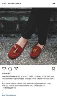 Kara Maroon Canvas by amblefootwear