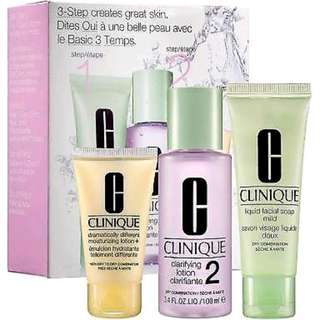 BRAND NEW Clinique 3 step introductory kit
