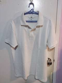 UNIQLO white polo shirt