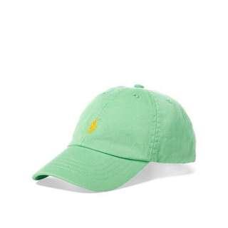 現貨 / Polo Ralph Lauren 老帽 青年版 萊姆綠配色