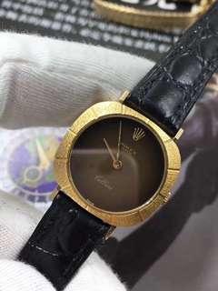 勞力士女士12划機械腕錶 25表盤大小 18k黃金打造正品