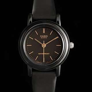 Casio Black Resin Strap Watch