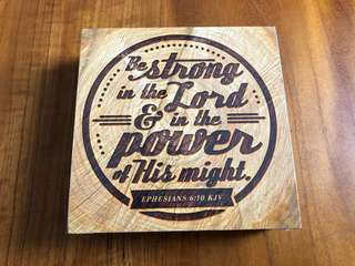 New Wooden Decoration with Bible Verse