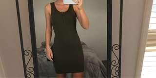 khaki tight dress