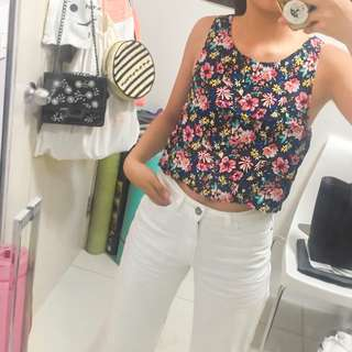 Cotton On XS Floral Crop Top