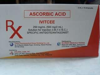 Ivitcee ascorbic acid 500mg /ampoule 10 ampoule / box
