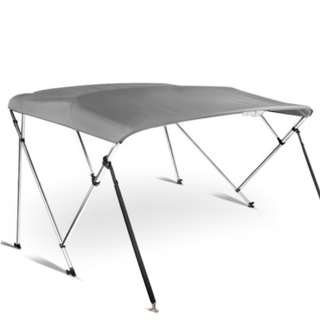 1.8-2M Boat Top Canopy - Grey  4-bow Structure Foldable design