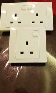 Schneider Electric Power Sockets - Single and Double
