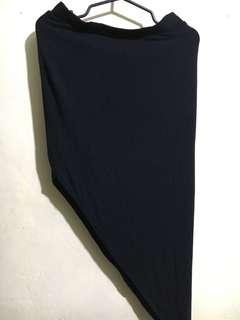 H&M Black Skirt (Slit)