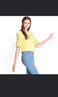 Lilypirates Lucky Charm Yellow Crochet Top