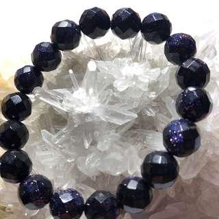 天然水晶、紫金沙手鏈、水晶、紫金沙