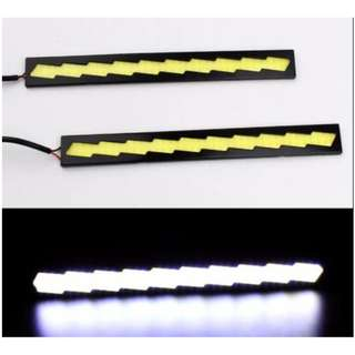 1Pair COB DRL Fog Lights Silicone Flexible white(1C-3Y)