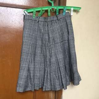 Retro Plaid Checkered Gingnam Vintage Skirt