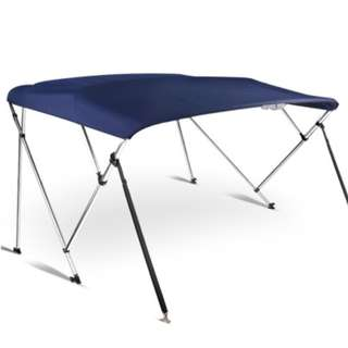 1.5-1.7M Boat Top Canopy - Blue Durable aluminium framework Strong and stable