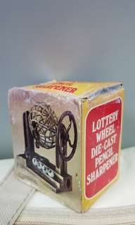 古董鉛筆刨 Lottery Wheel Die-cast Pencil Sharpener