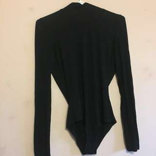 Turtleneck Bodysuit Open Back