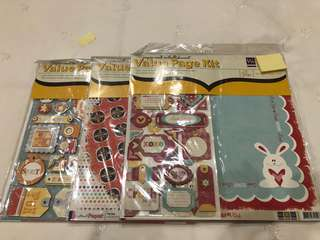 Scrap book value page kit