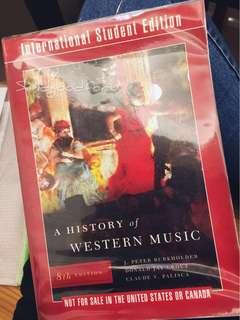 ⭐️音樂系必備_A HISTORY OF WESTERN MUSIC(原文書*1、無譜例)