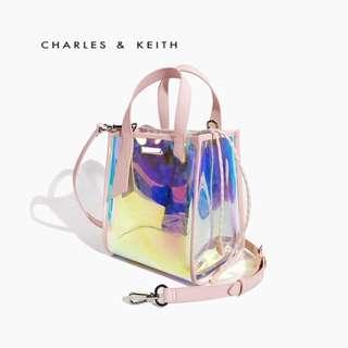 Charles & Keith Neon Transparent Bag