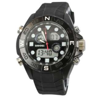 SHHORS SH-0112 MEN QUARTZ ANALOG SPORTS WATCH